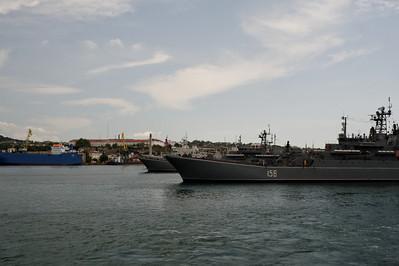 Sevastopol - Harbor with Russian war ships