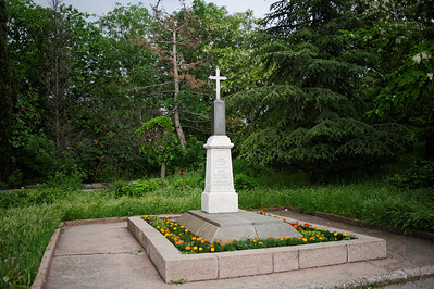 Sevastopol - Malakoff Hill, Mass grave of French (10,000) and Rusiian (13,000) soldiers from the Crimean war.