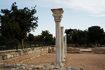 Sevastopol - Chersonesus. Ruins of Byzantine Church which was built on the Agora of the Greek town