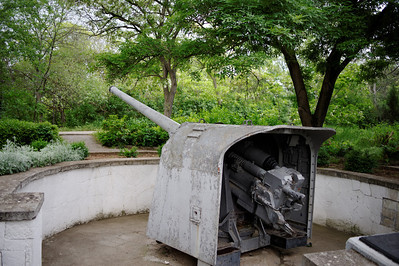 Sevastopol - Malakoff Hill with 1941 cannon. There was an even worse battle then. Only seven houses were left standing in Sevastopol, a city of 400,000.