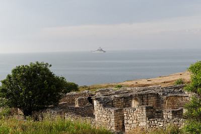 Sevastopol - Chersonesus. From here the remnants of the German 17th army escaped form the Crimea in 1944. Only about 35,000 of originally 200,000 soldiers arrived in Constanza, Roumania.