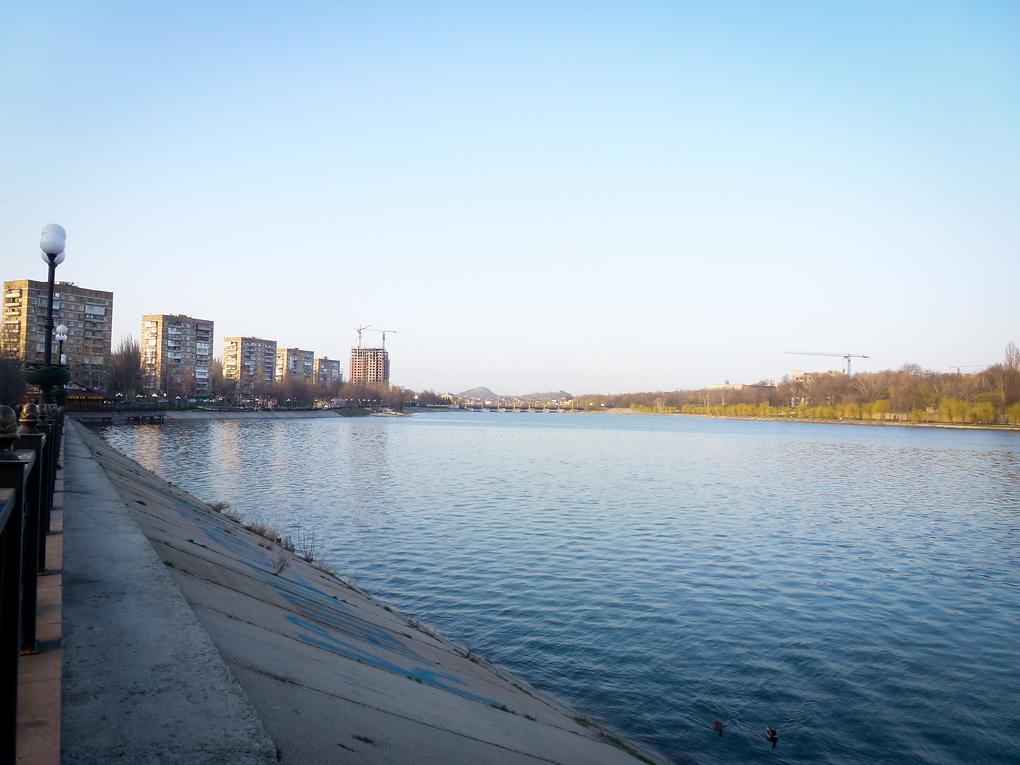 kalmius river donetsk ukraine