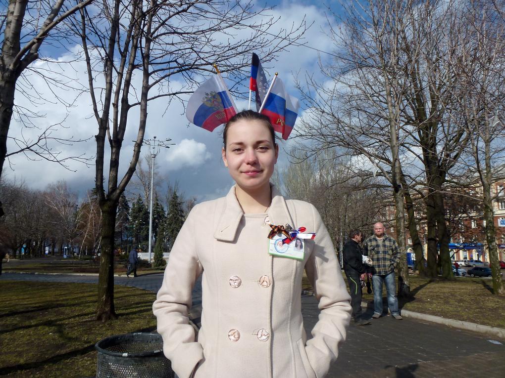 donetsk ukraine demonstrator