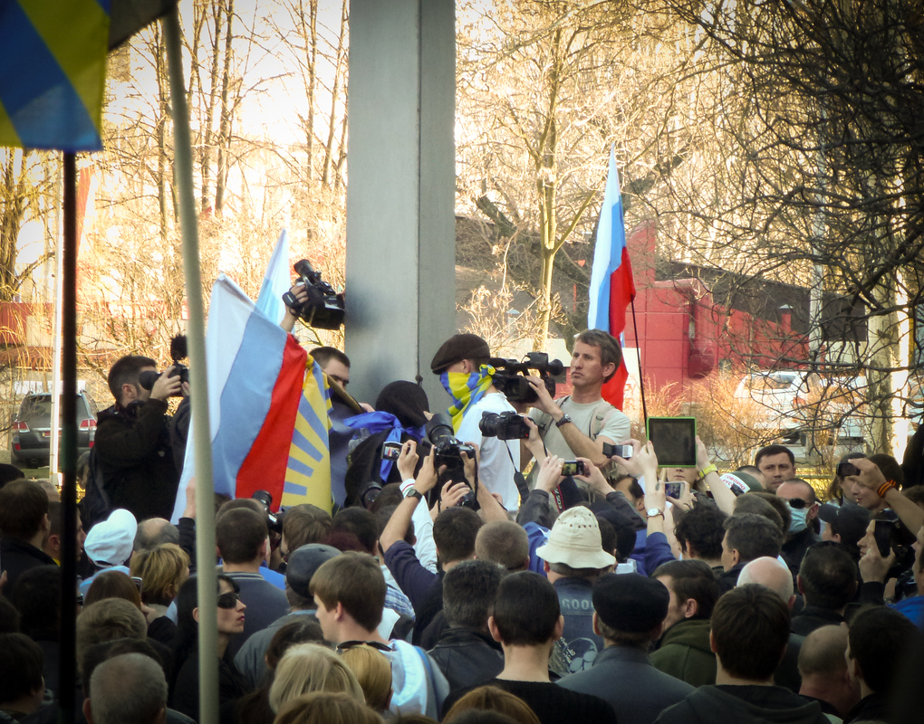 donetsk ukraine flag taken down
