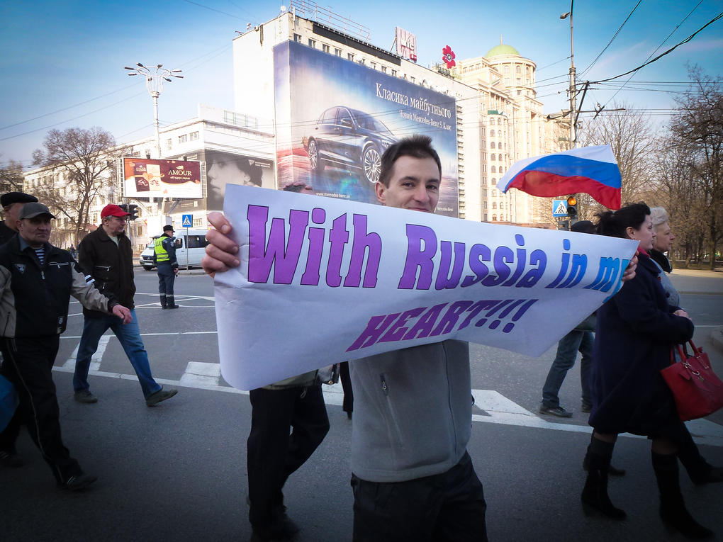 pro russian demonstrator eastern ukraine