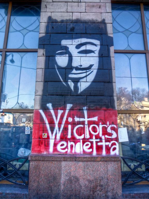 guy fawkes mask kiev maidan ukraine