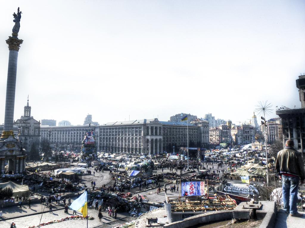 kiev maidan square kilometer