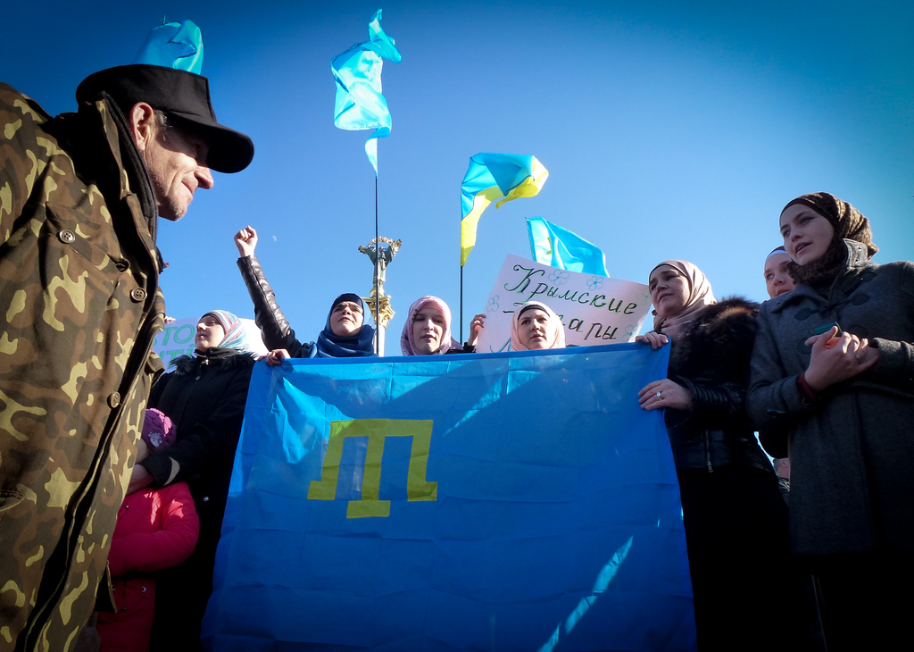 tatar protest demonstration kiev maidan