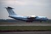 """UR-76744 Ilyushin IL-78 """"BSL Airlines"""" c/n 0073478359 Maastricht-Aachen/EHBK/MST 01-03-96 (35mm slide)"""
