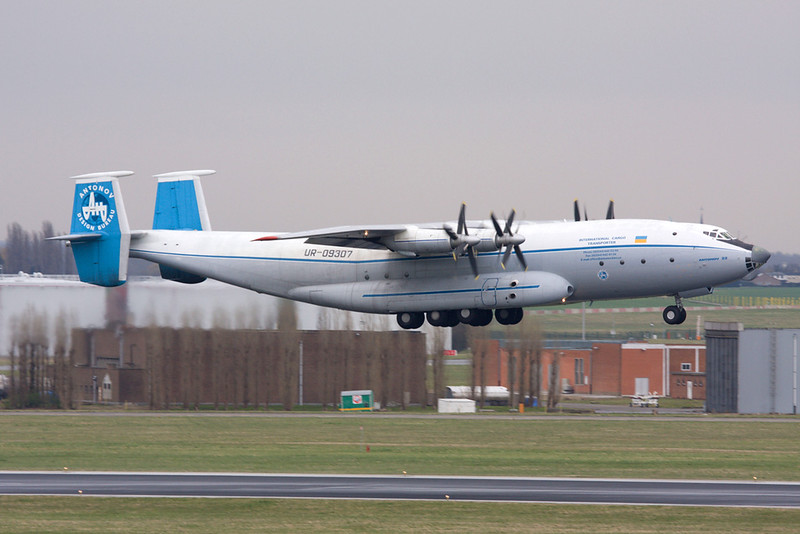 "UR-09307 Antonov An-22A ""Antonov Design Bureau"" c/n 043481244 Brussels/EBBR/BRU 30-03-08"