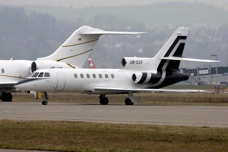 UR-CCF Dassault Falcon 50 c/n 212 Zurich/LSZH/ZRH 26-01-12