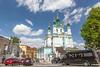 St. Andrew's Church, Podil, Kiev, Ukraine.