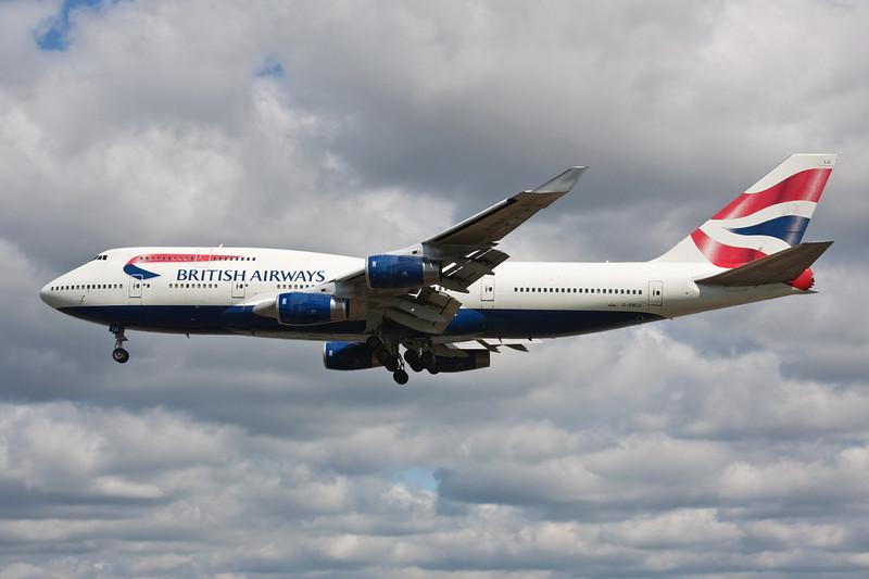 G-BNLU Boeing 747-436 c/n 25406 Heathrow/EGLL/LHR 18-07-09