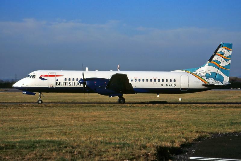 "G-MAUD BAe ATP ""British Regional Airlines"" c/n 2002 Glasgow/EGPF/GLA 07-11-03 ""Blue Poole"" (35mm slide)"