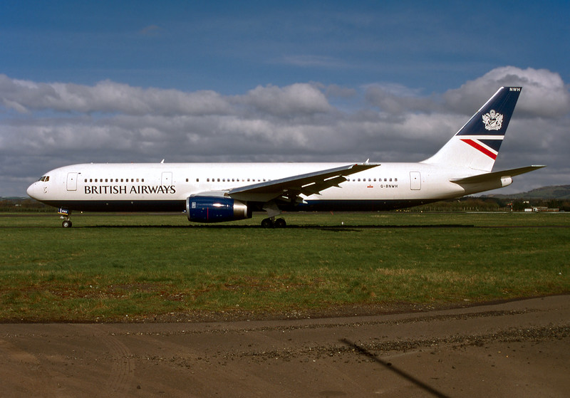 "G-BNWH Boeing 767-336ER ""British Airways"" c/n 24340 Glasgow/EGPF/GLA 10-04-98 (35mm slide)"