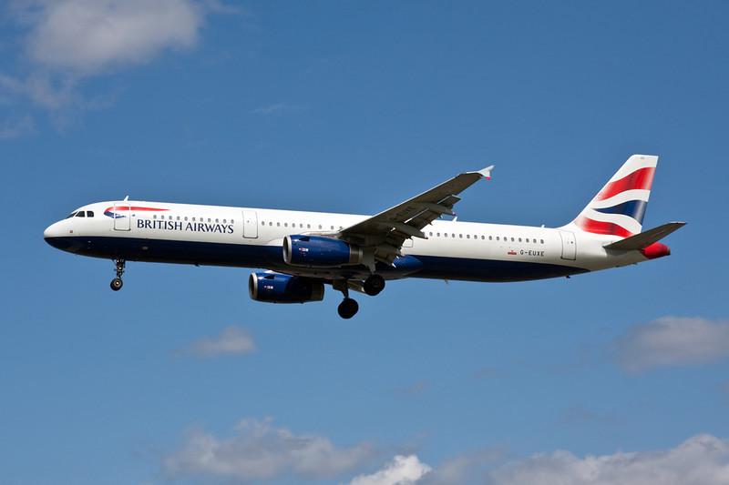 G-EUXE Airbus A321-231 c/n 2323 Heathrow/EGLL/LHR 18-07-09