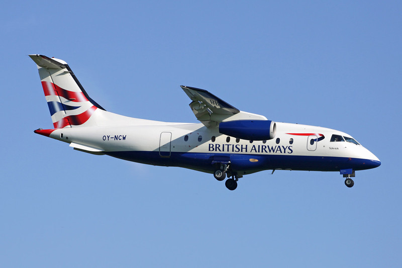 "OY-NCW Dornier Do.328-300 Jet ""Sun-Air"" c/n 3131 Brussels/EBBR/BRU 27-05-13 ""British Airways"""