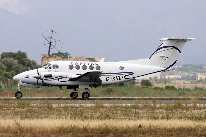 G-KVIP Beech 200 Super King Air c/n BB-487 Palma/LEPA/PMI 14-06-16