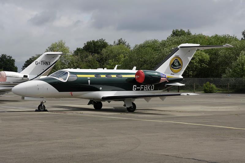 "G-FBKD Cessna 510 Citation Mustang c/n 510-0346 Blackbushe/EGLK/BBS 18-07-11 ""Team Lotus"""