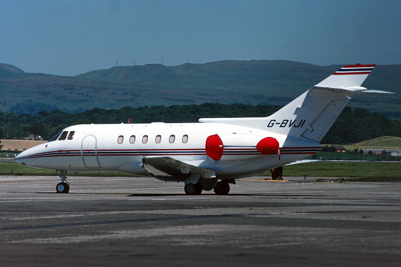 G-BVJI Hawker-Siddley 125-800B c/n 258258 Glasgow/EGPF/GLA 28-06-95 (35mm slide)
