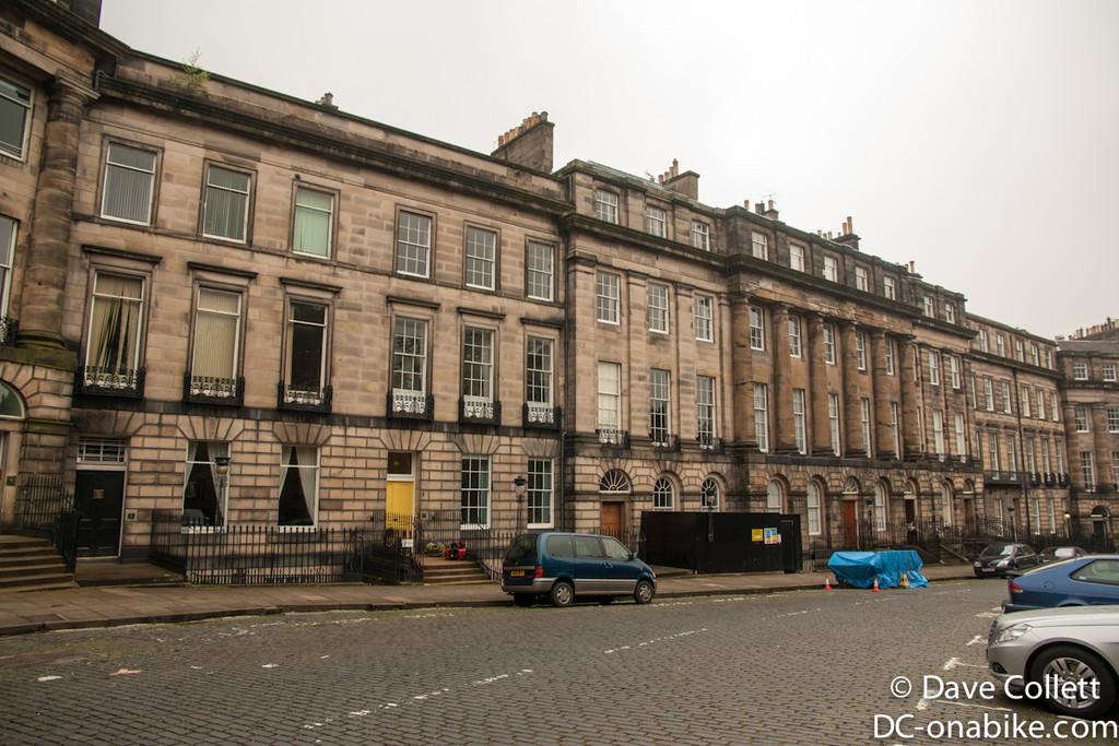 Moray Place, Edinburgh where I stayed