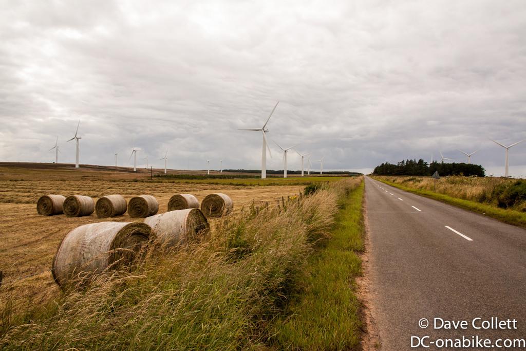 Windfarm and hay..