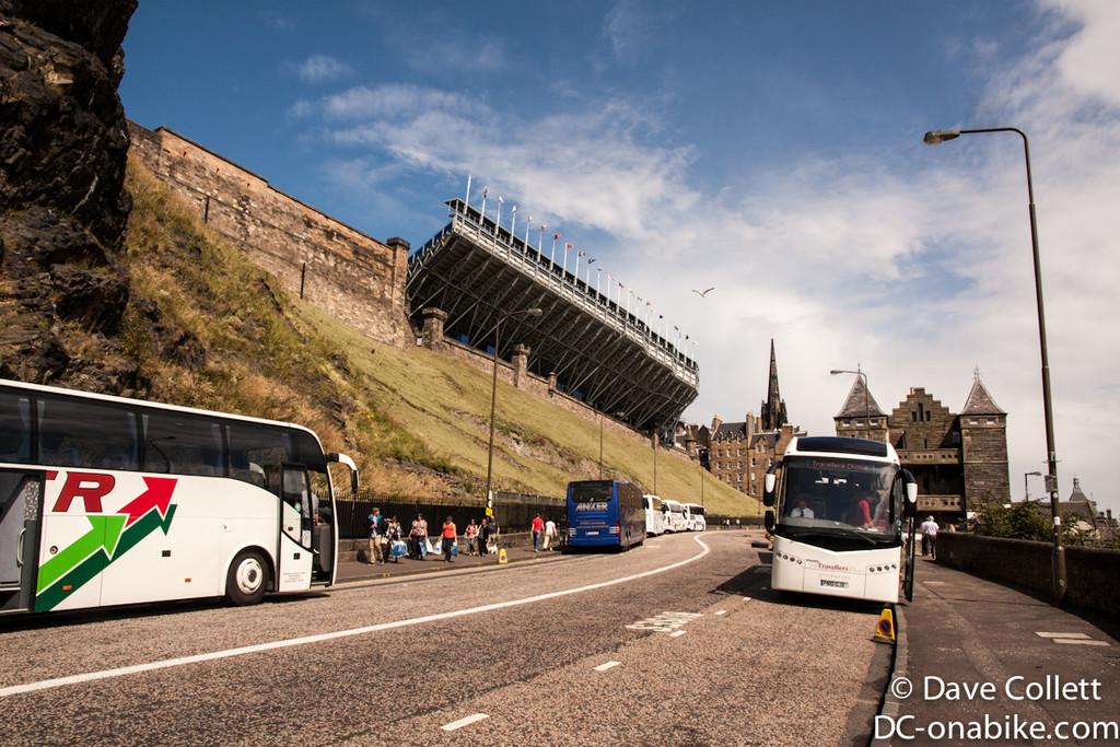 Buses at Edinburgh Castle