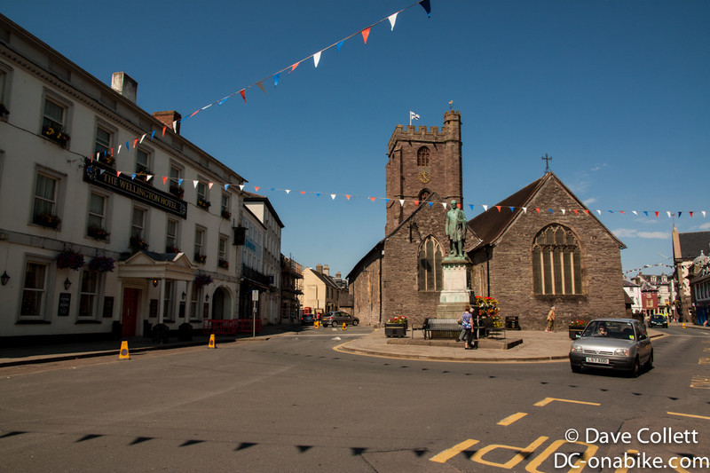 Brecon town centre