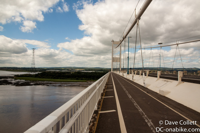 Crossing the Severn Bridge to Wales