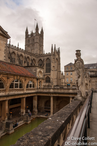 Bath Abbey and the Pools