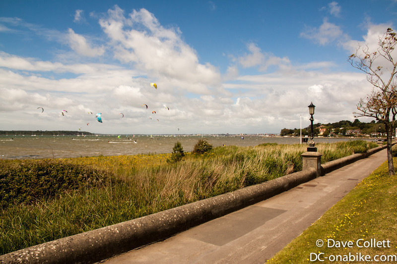 Kite surfers near Poole