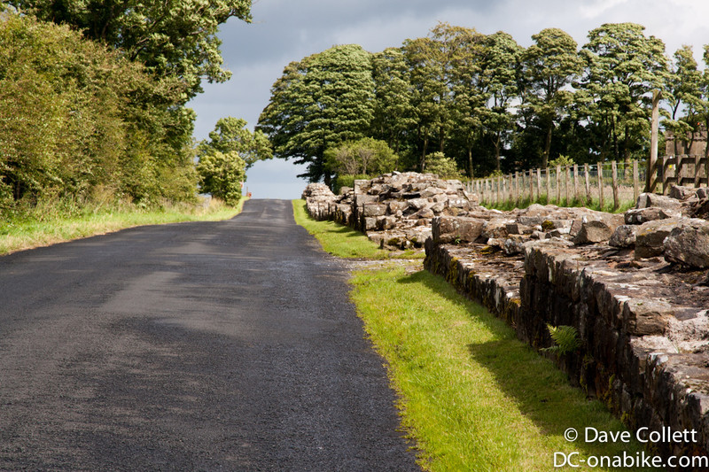 Riding alongside Hadrians Wall