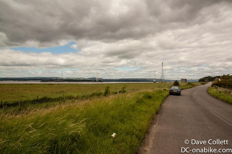 Heading towards the bridge to Wales