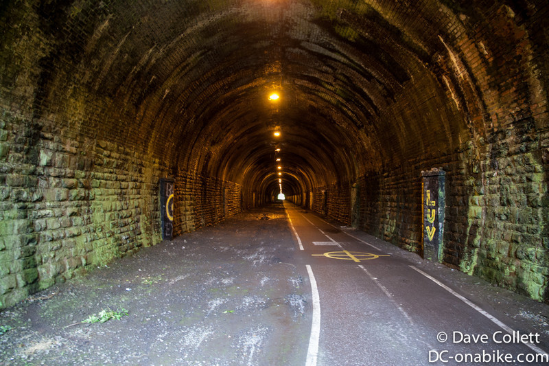 Inside the railway tunnel