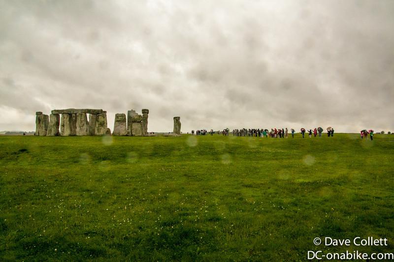 Stonehenge through the rain