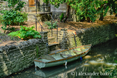 Rowboat, River Cherwell, Magdalen College, Oxford