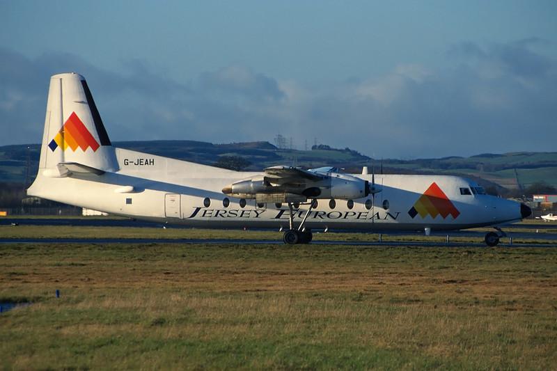 G-JEAH Fokker F-27-500RF Friendship c/n 10669 Glasgow/EGPF/GLA 08-11-97 (35mm slide)