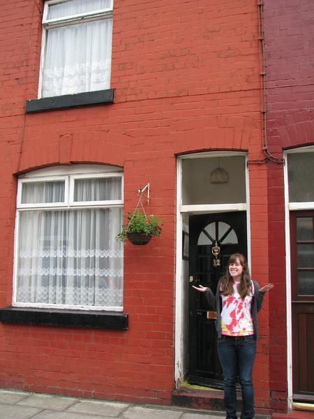 Liz in Liverpool (John Lennon's old house)
