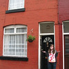 Liz in Liverpool (John Lennon's old house)