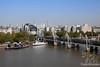 Waterloo Stn & Jubilee Bridge from London Eye