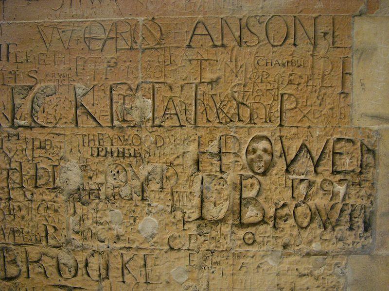 Da Vinci Code!!! <br /> ... just a wall in the Eton College