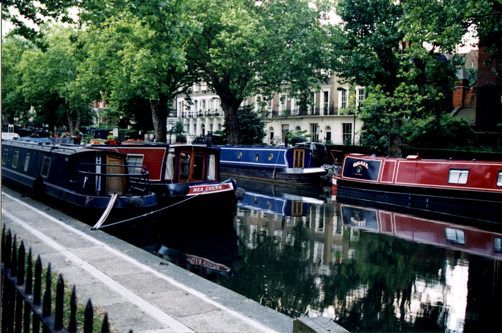 Canal Boats on the Regent's Canal - London, England - Photo
