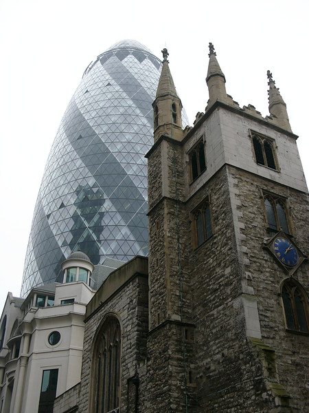 Swiss Re Tower and St Mary Axe
