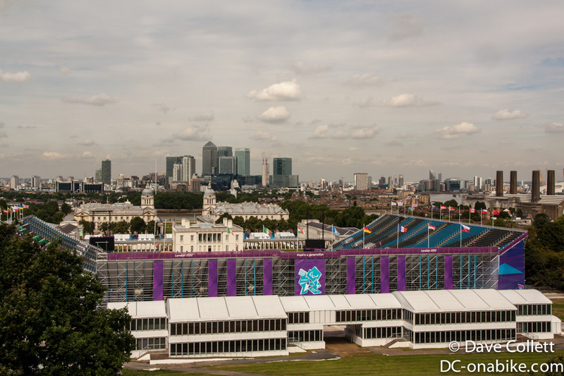 The temporary stadium set up for the Equestrian events