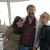 Melody, Liz and Chris on London Eye