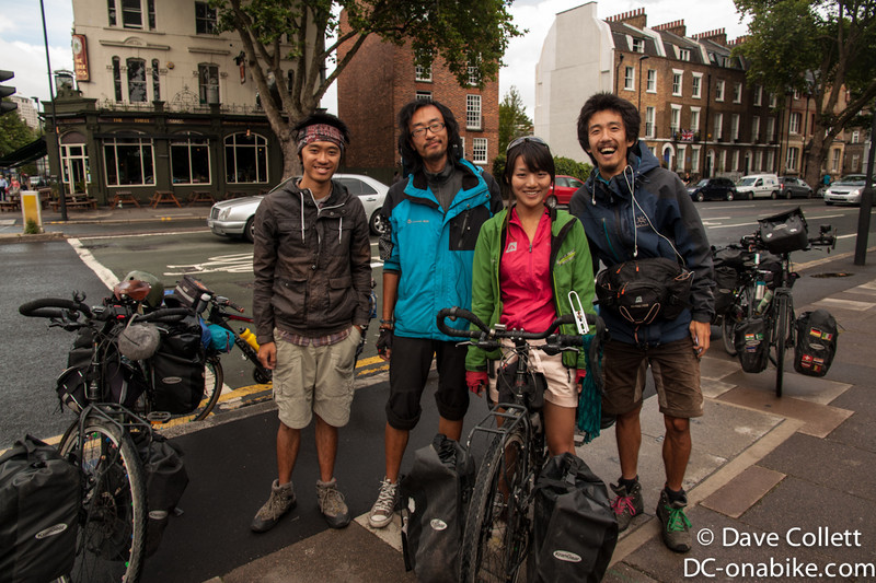 A group of Chinese who had ridden from Beijing, via Tibet!