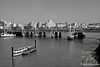 Golden Jubilee Bridge & Thames River-B&W