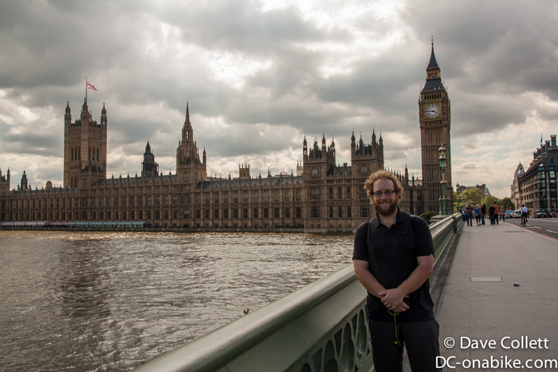Me with the Houses of Parliament