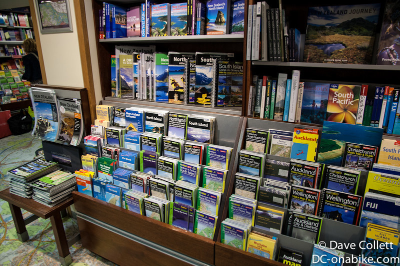 Stanfords Map shop, with the NZ selection