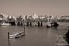 Golden Jubilee Bridge & Thames River-sepia
